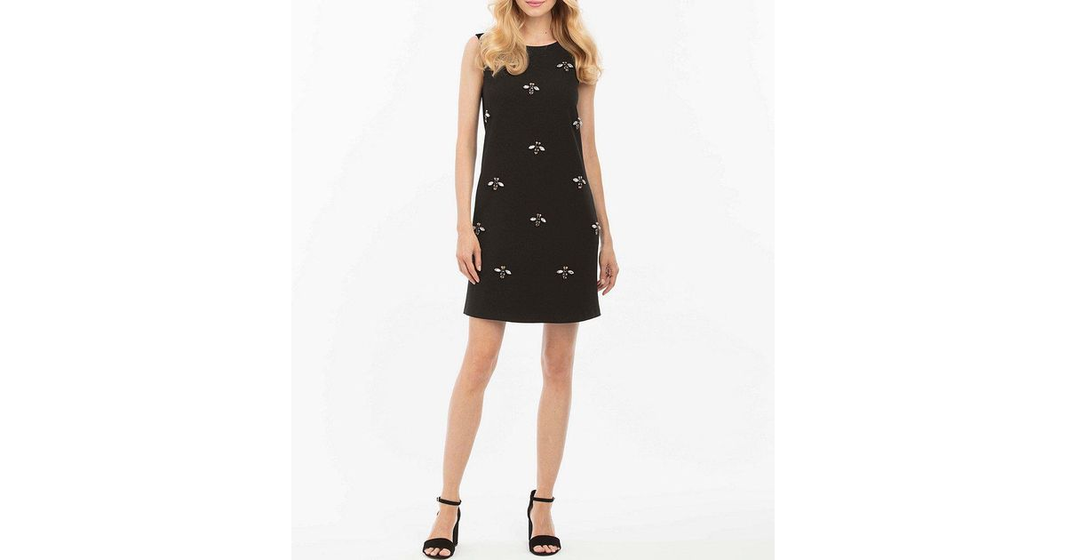 Lyst Nicole Miller Bee Bead Embellished Shift Dress In Black