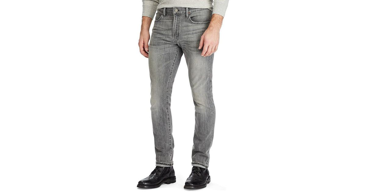 66b4ea956 Lyst - Polo Ralph Lauren Big   Tall Hampton Relaxed-straight Fit Stretch  Jeans in Gray for Men