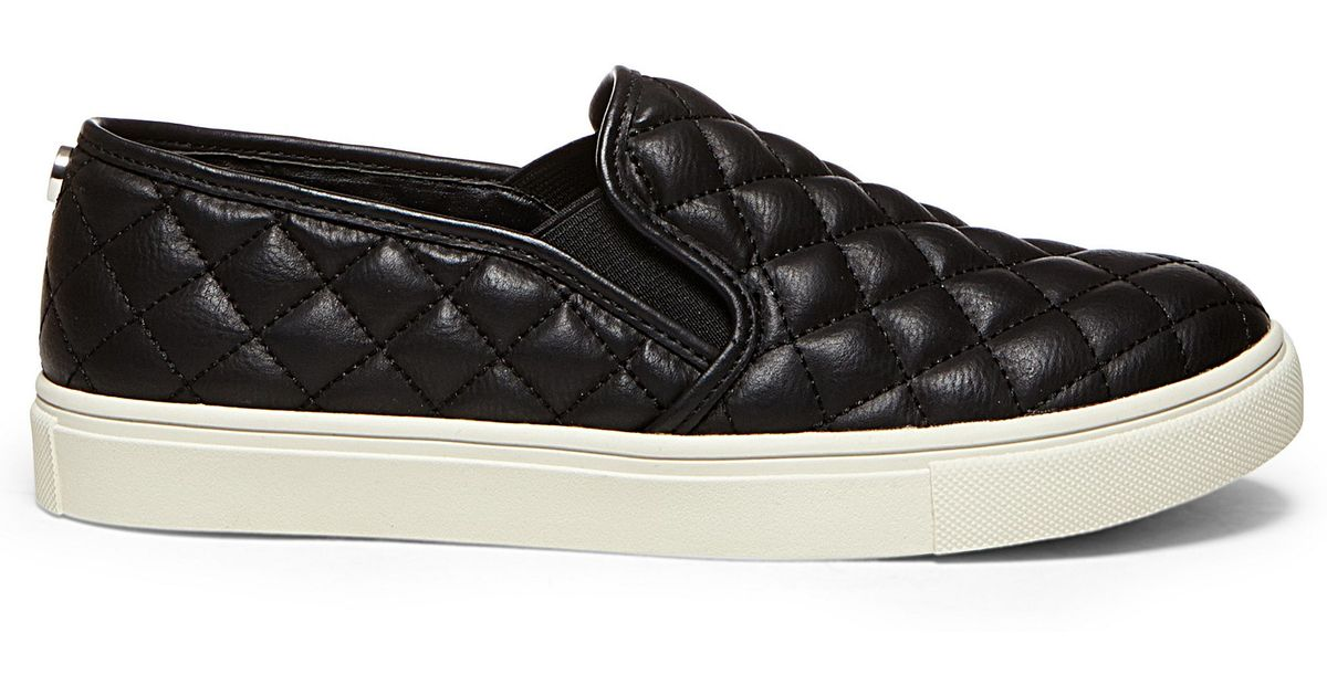 Steve Madden Ecentrcq Quilted Slip On Sneakers In Black Lyst