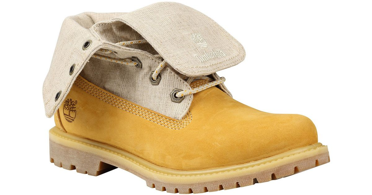 Elegant Timberland Womens Ankle Boots Wheat Yellow Glancy 6 Inch Lace Up Leather Heeled | EBay