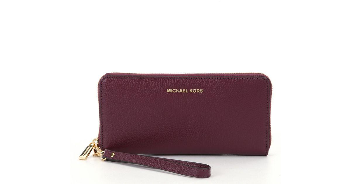 ad3b2fdbdc72 Lyst - MICHAEL Michael Kors Studio Mercer Travel Continental Wallet in  Purple