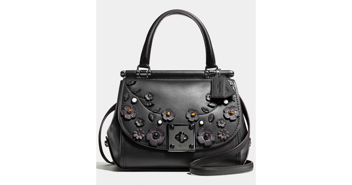 Coach Drifter Top Handle Satchel In Willow Floral Print
