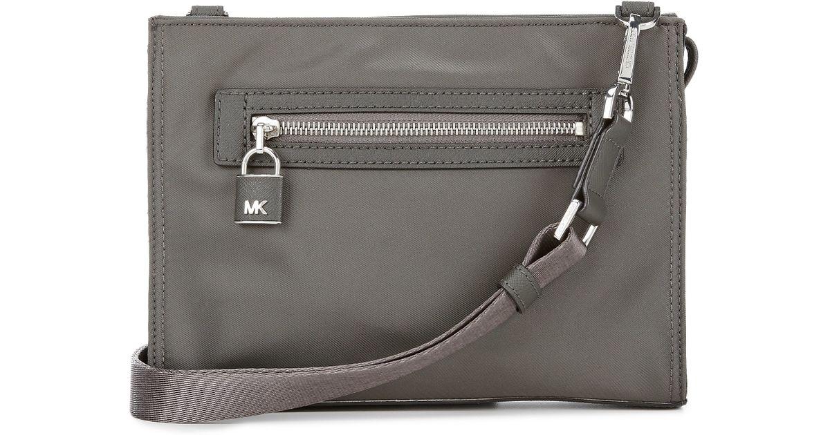 213e8f80a966 MICHAEL Michael Kors Janie Large Nylon Cross-body Bag in Gray - Lyst
