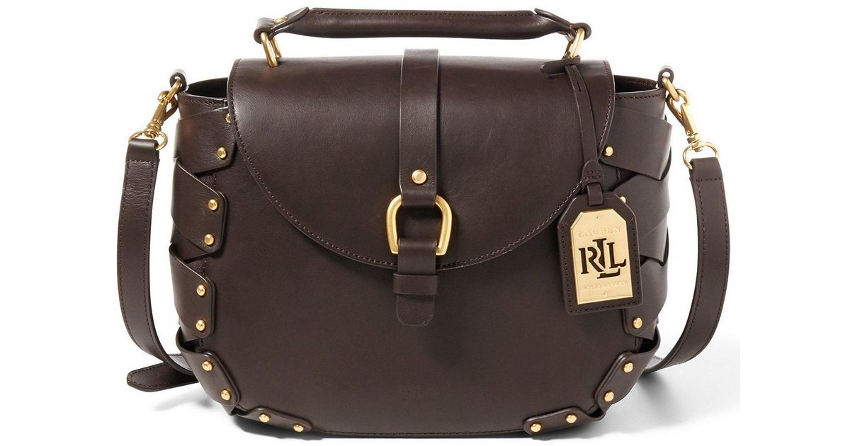 aecf332fa69f Lyst - Lauren by Ralph Lauren Ludwick Collection Viana Saddle Bag in Brown