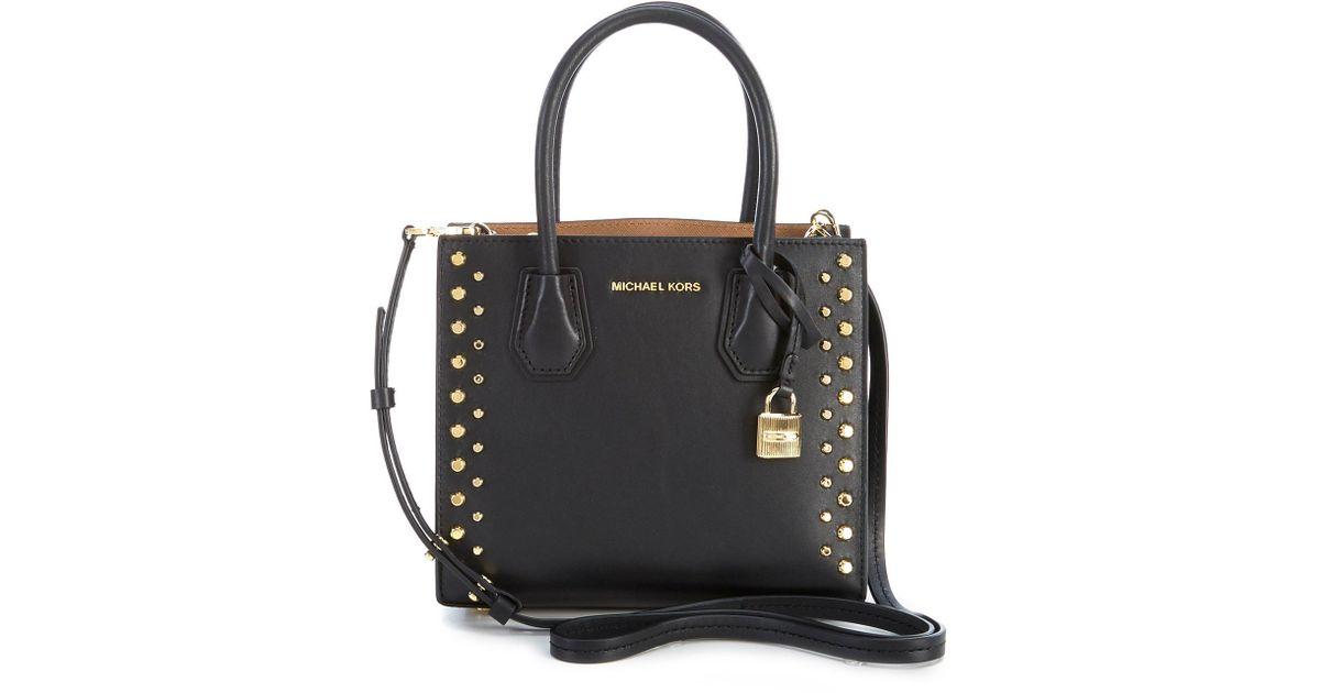 4f27245c3abd MICHAEL Michael Kors Studio Mercer Stud & Grommet Cross-body Bag in Black -  Lyst