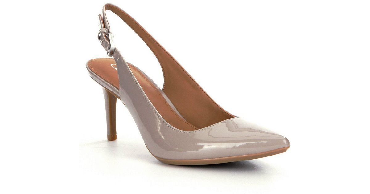 206b57c9cc3 Calvin Klein Giovanna Pointed-toe Slingback Pumps in Gray - Lyst