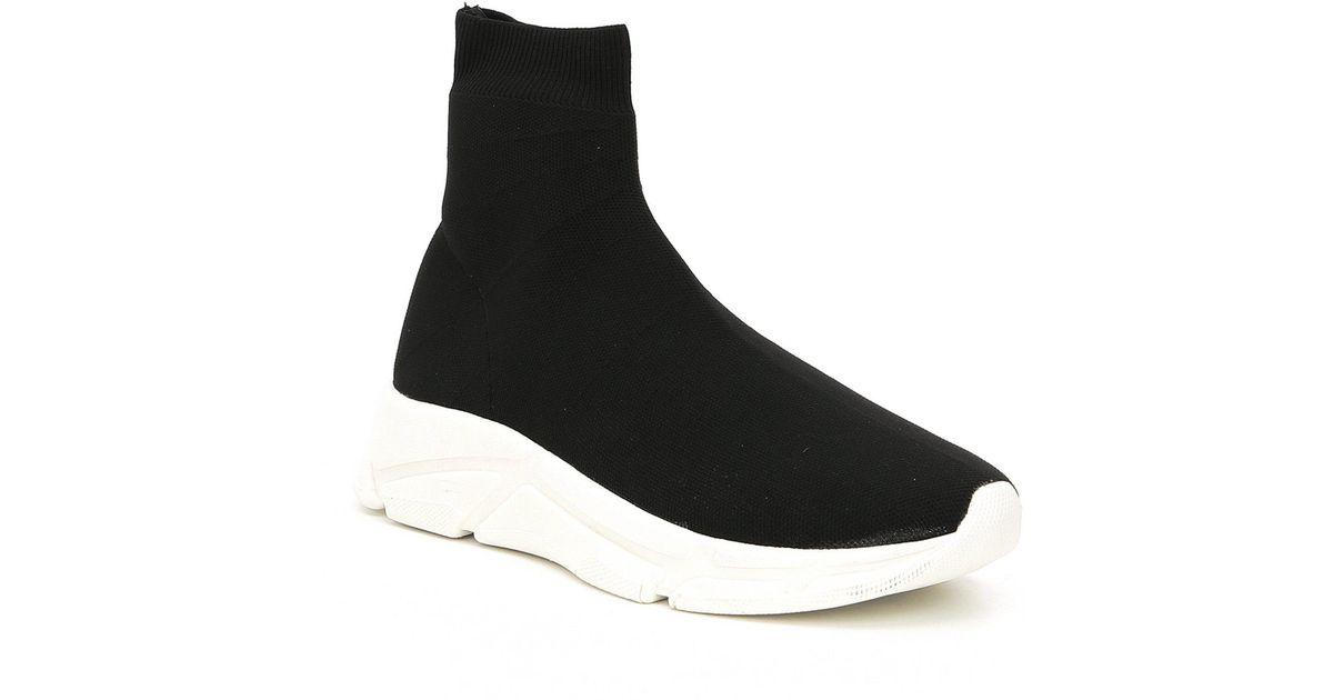 81d78312d18 Steve Madden - Black Bitten Knit Sneakers - Lyst