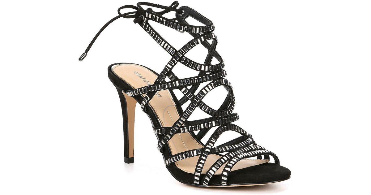 884e0dfe4f96 Lyst - Gianni Bini Kellzie Nubuck Jeweled Dress Sandals in Black