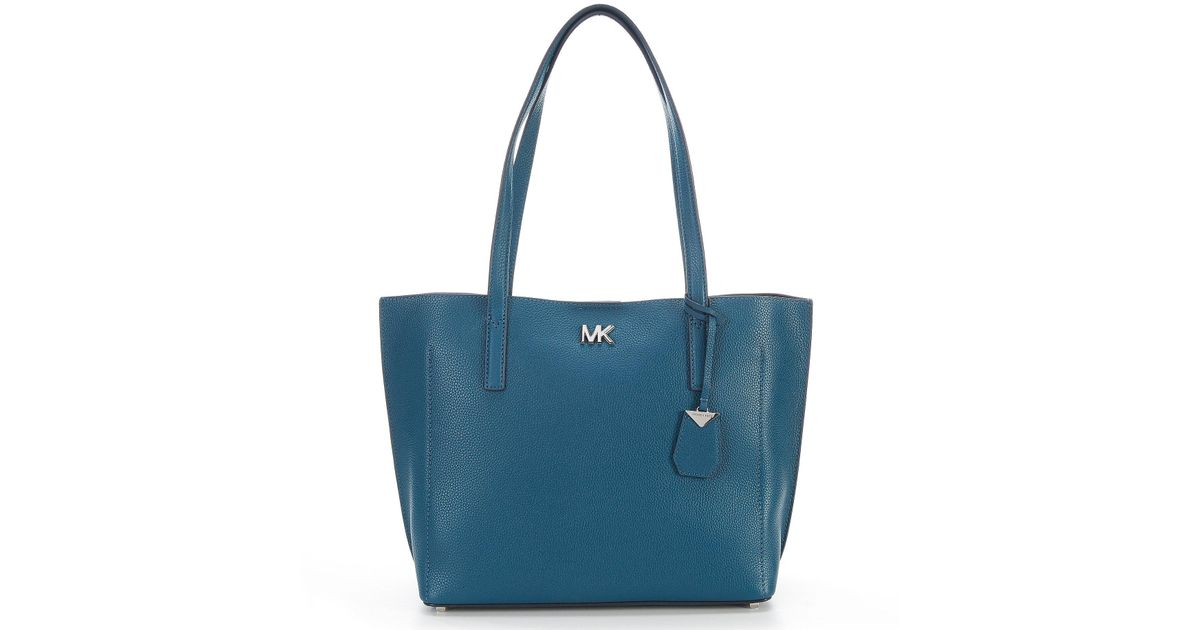 0f080de6939b9c MICHAEL Michael Kors Ana Medium East/west Bonded Tote (luxe Teal) Tote  Handbags in Blue - Save 1% - Lyst