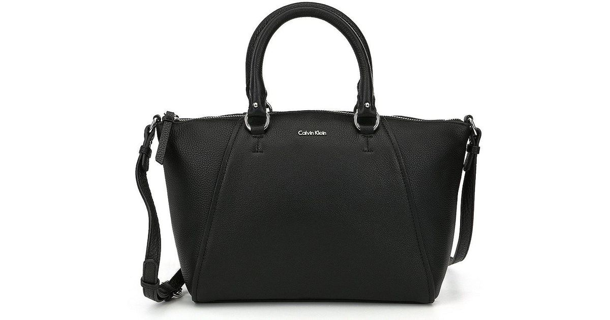 1c3fa2318a Lyst - CALVIN KLEIN 205W39NYC Avery Pebble Satchel in Black