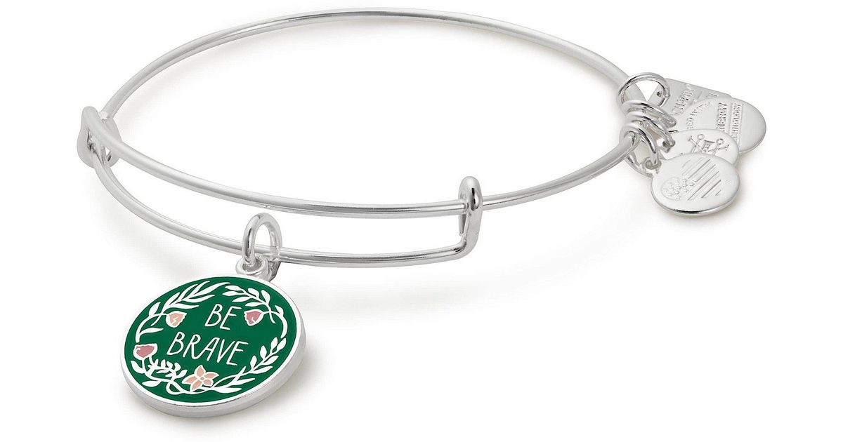 Lyst Alex And Ani Be Brave Special Olympics Charm Bangle Bracelet In Metallic