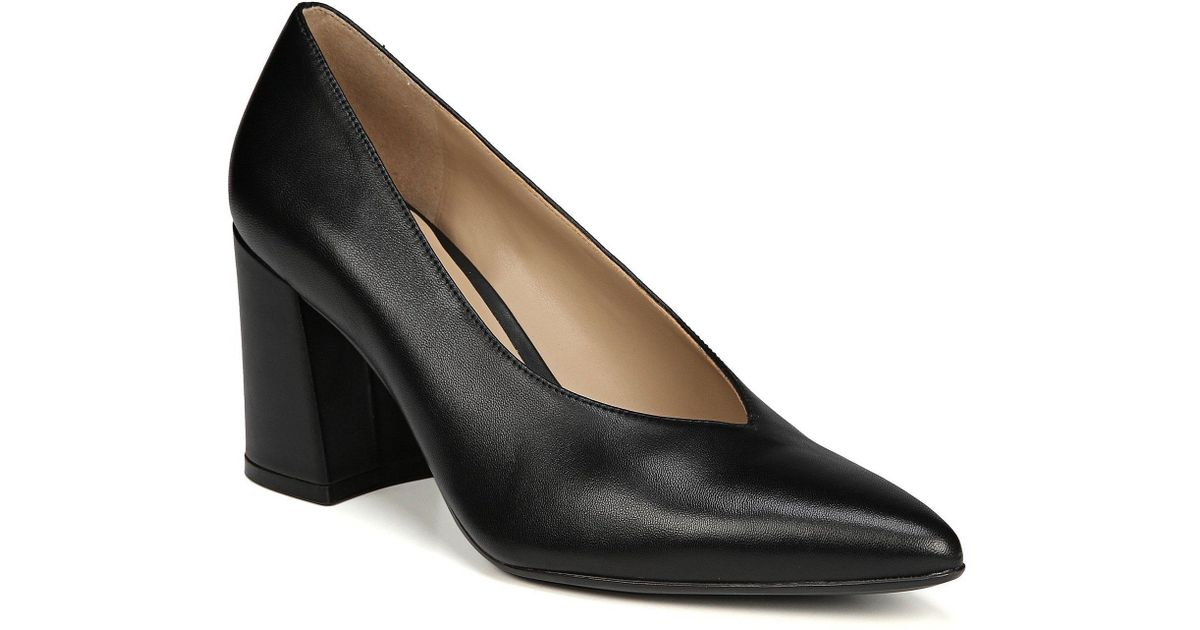 e9eaa57c035 Lyst - Naturalizer Hope Block Heel Pumps in Black