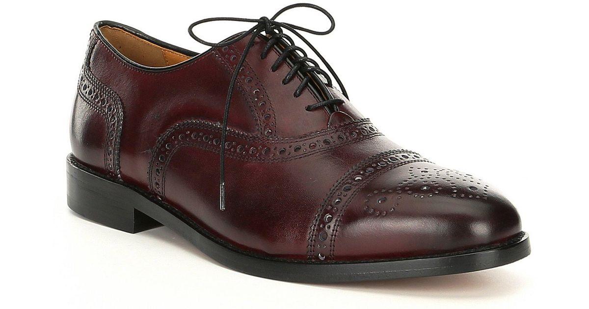 1f889215b Lyst - Cole Haan American Classics Kneeland Brogue Cap Toe Oxford in Brown  for Men