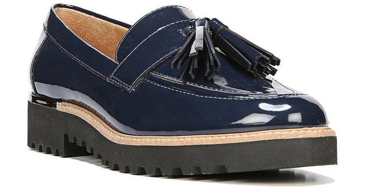 Carolynn Patent Tassel Block Heel Loafers wl9PL