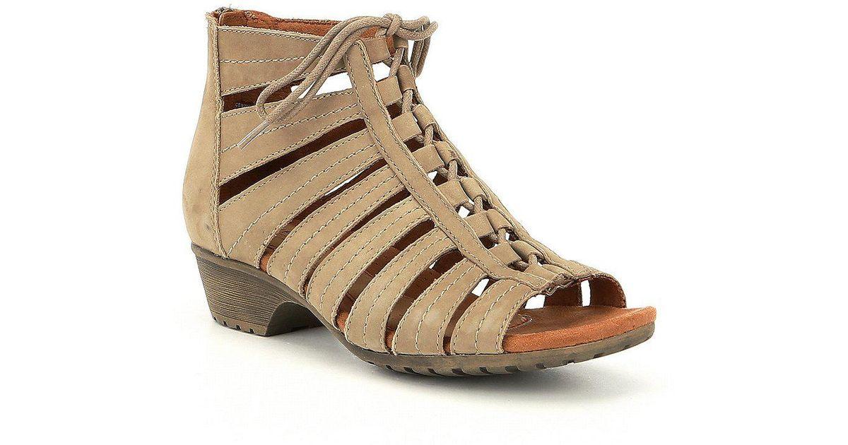 Rockport Cobb Hill Gabby Ghillie Block Heel Sandals AxacB4hIZ