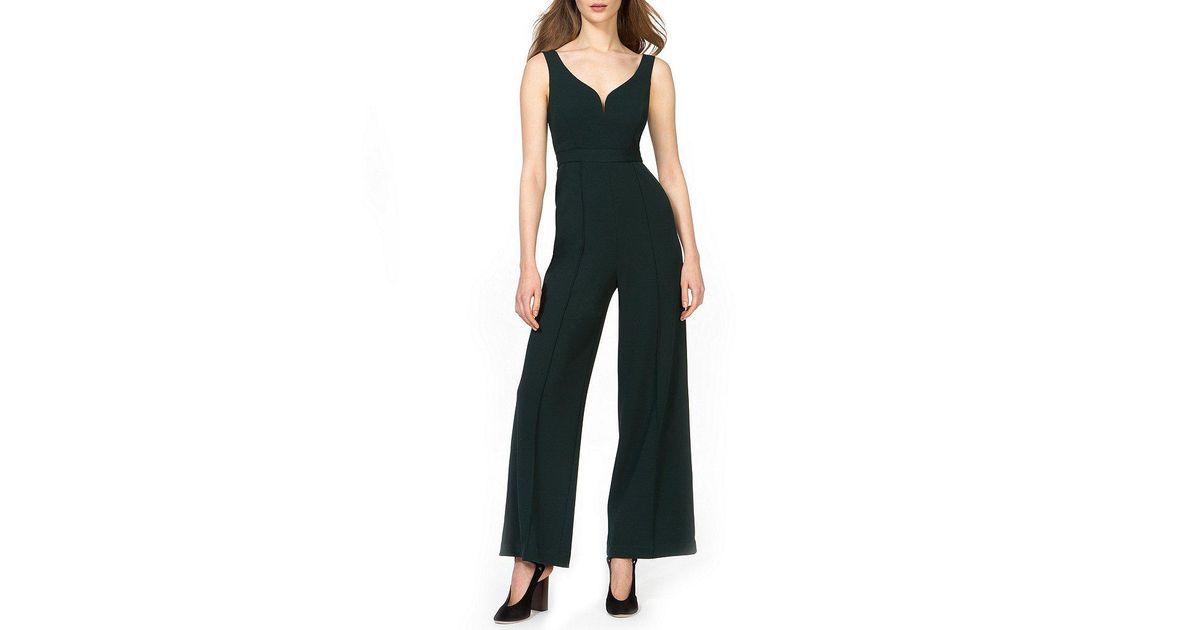 cccbc64282a Lyst - Donna Morgan Sweetheart Neck Jumpsuit in Black