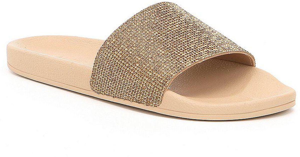 9dfd01ed5d3 Lyst aldo montagne rhinestone detail slide sandals in black jpg 1200x630  Aldo black slides