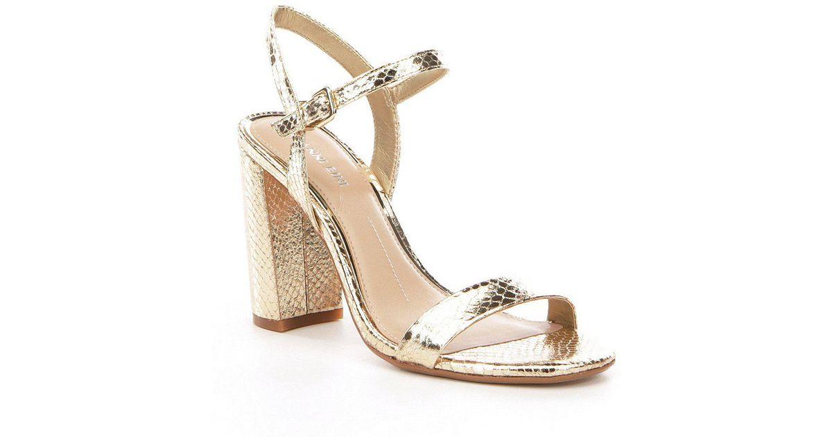 3d0d85b3ea9 Lyst - Gianni Bini Mckaria Dress Sandals in Metallic