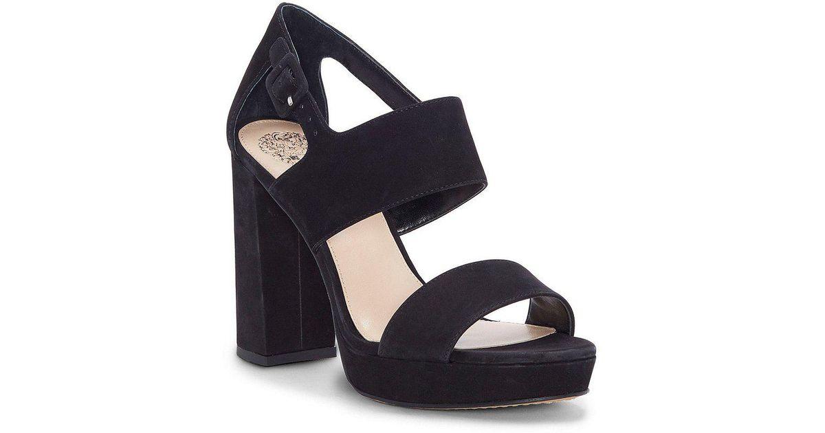 Jayvid Nubuck Platform Block Heel Sandals 940HPO4p