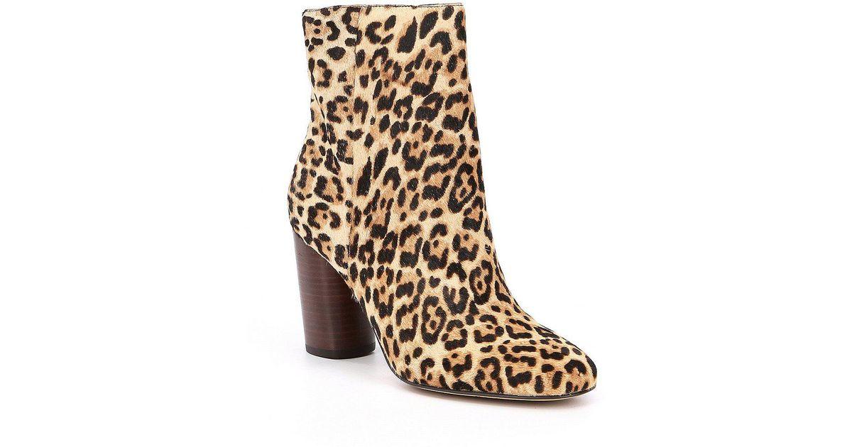 3eaf62c738d484 Lyst - Sam Edelman Corra Leopard Booties in Brown