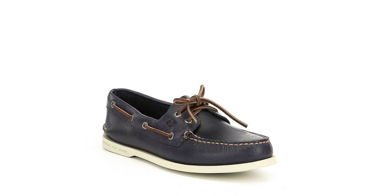 eb85c62646b Lyst - Sperry Top-Sider Men s Authentic Original 2-eye Orleans Boat Shoes  in Blue for Men