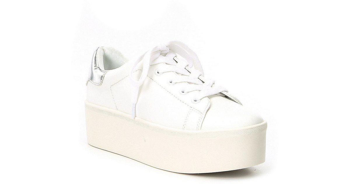 4309c10921a Lyst - Steve Madden Palmer Platform Lace Up Sneakers in White