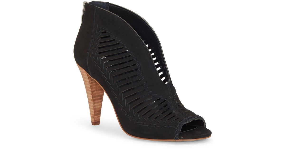 0cd98b2ef95e Lyst - Vince Camuto Acha Nubuck Leather Shooties in Black