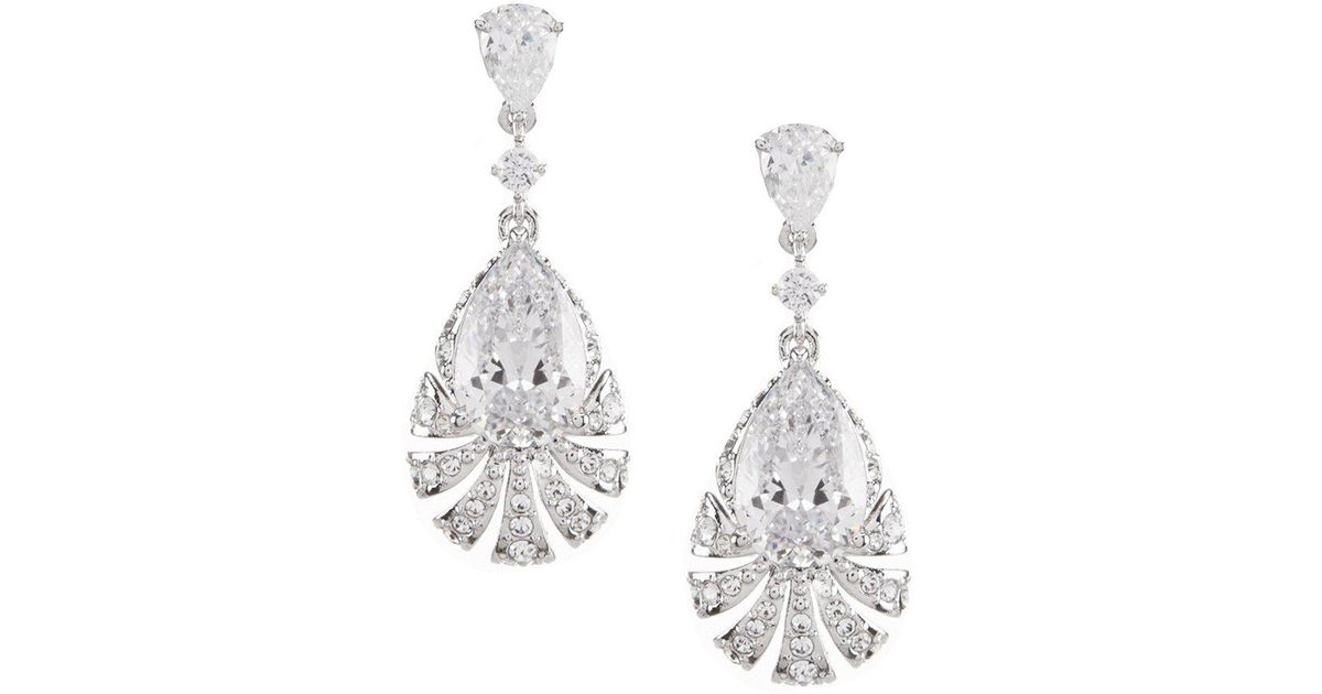 drop pear product earrings watches collette z silver zirconia sterling clear jewelry cubic