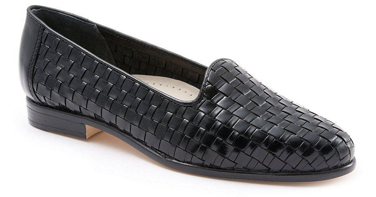 1d2b4d68aed Lyst - Trotters Liz Woven Leather Slip-on Loafers in Black