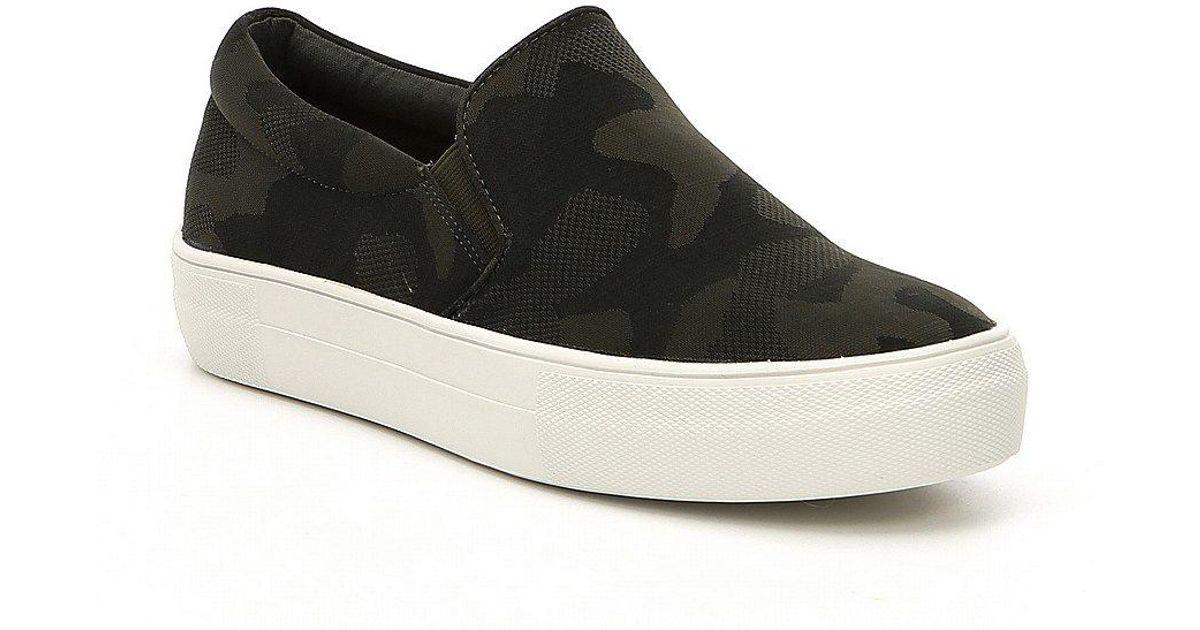 Gills Camoflage Slip-On Platform Sneakers tw0RVh1