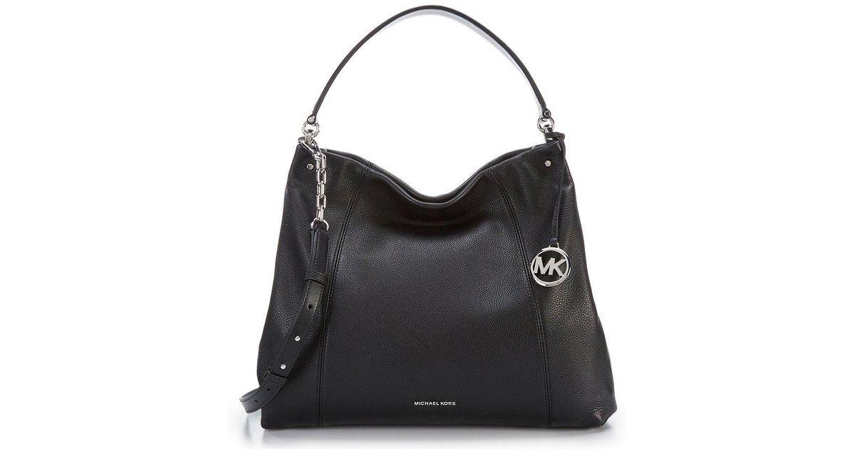 a0637a662e22aa MICHAEL Michael Kors Lex Large Convertible Hobo Bag in Black - Lyst