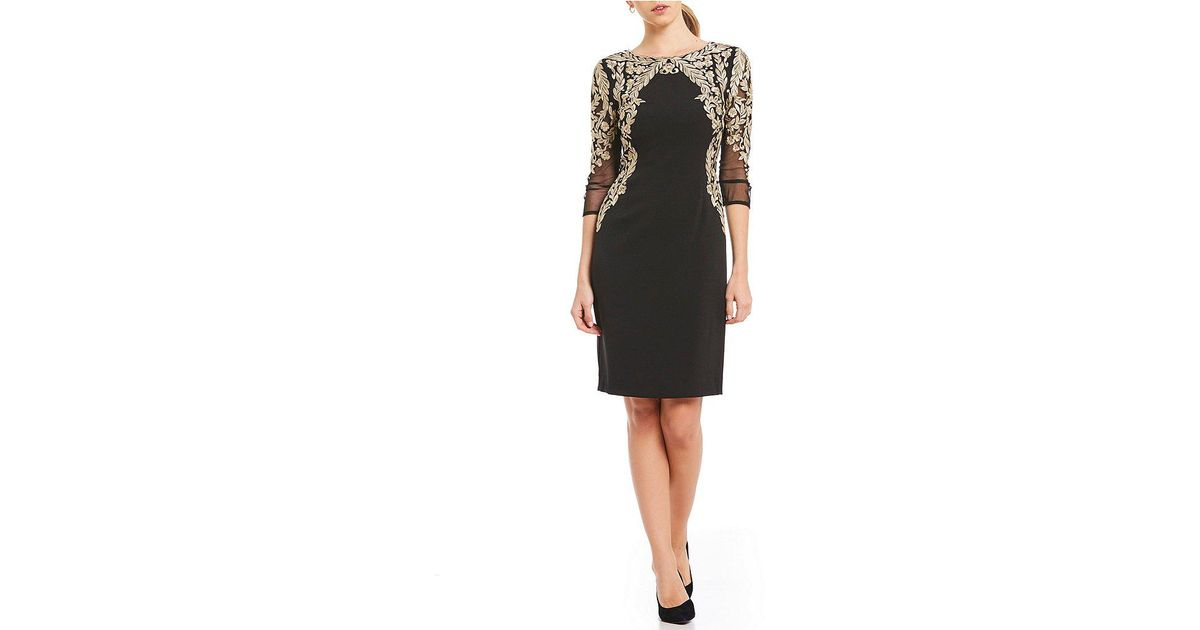 bc667368534 Antonio Melani Natalie Embellished Sheath Dress in Black - Lyst