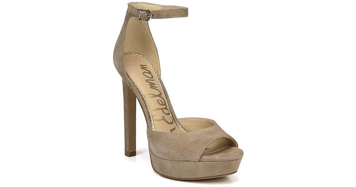 Sam Edelman Women's Wallace Satin Platform High-Heel Sandals LNEUh1llCo