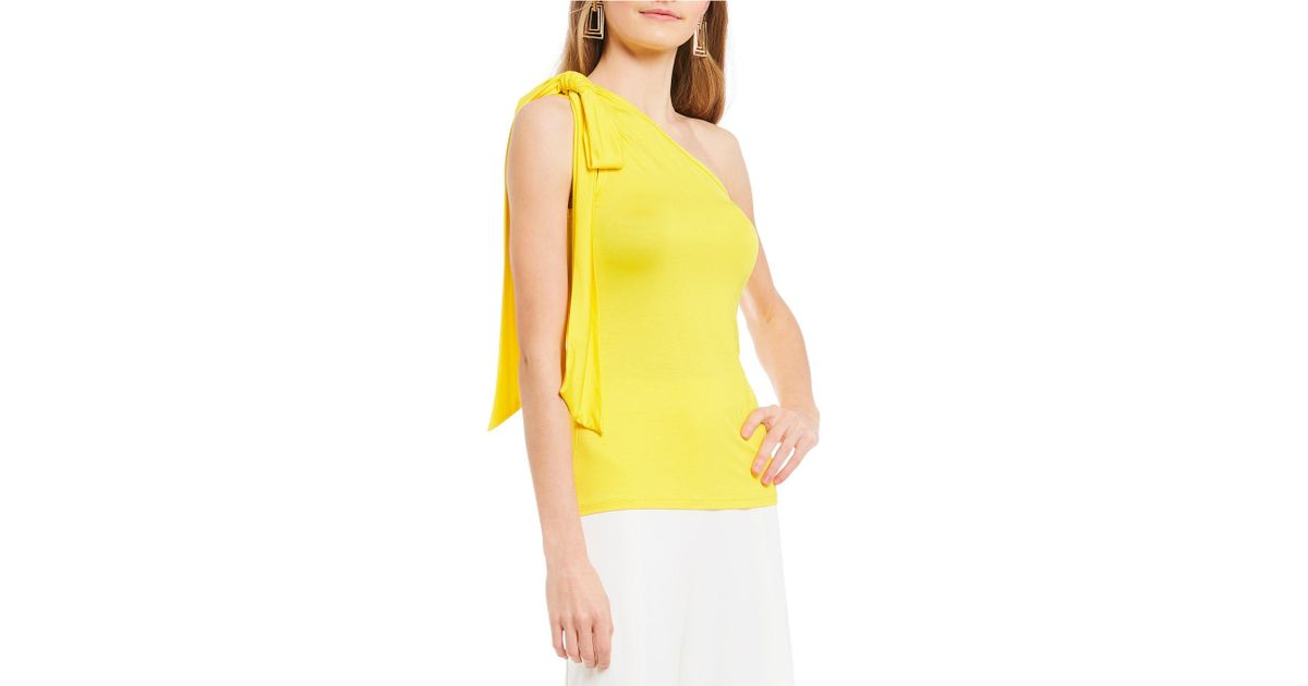 1bc289a2e816c4 Lyst - Trina Turk Alameda One-shoulder Top in Yellow - Save 53%