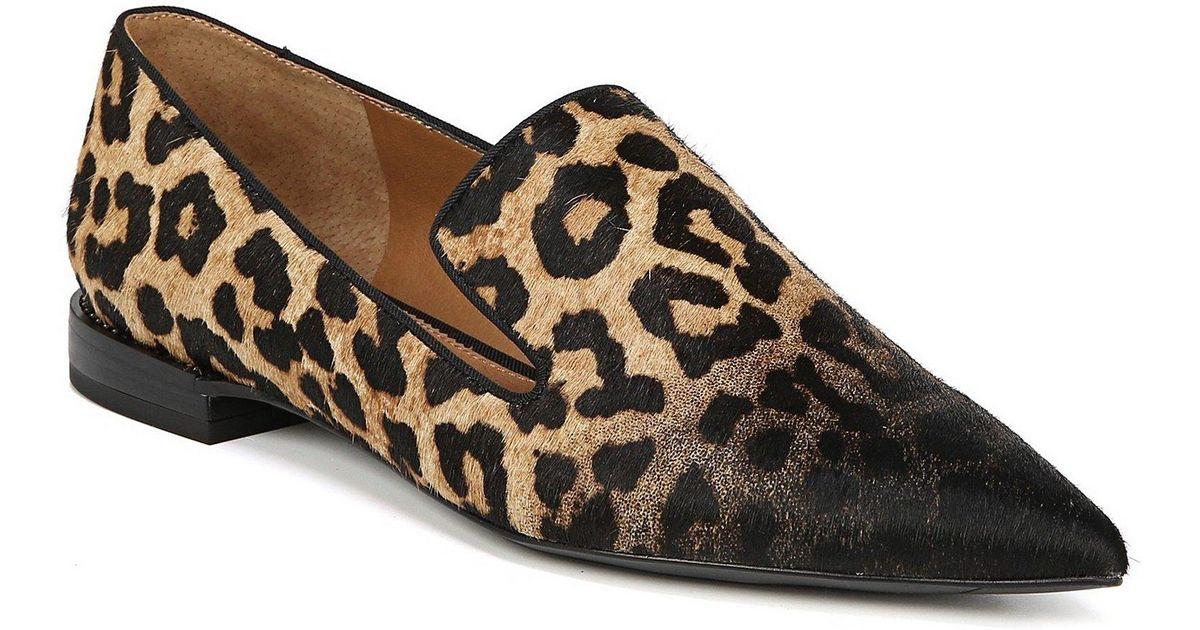ed1f19d1a64 Lyst - Franco Sarto Sarto By Topaz 2 Leopard Print Calf Hair Loafers