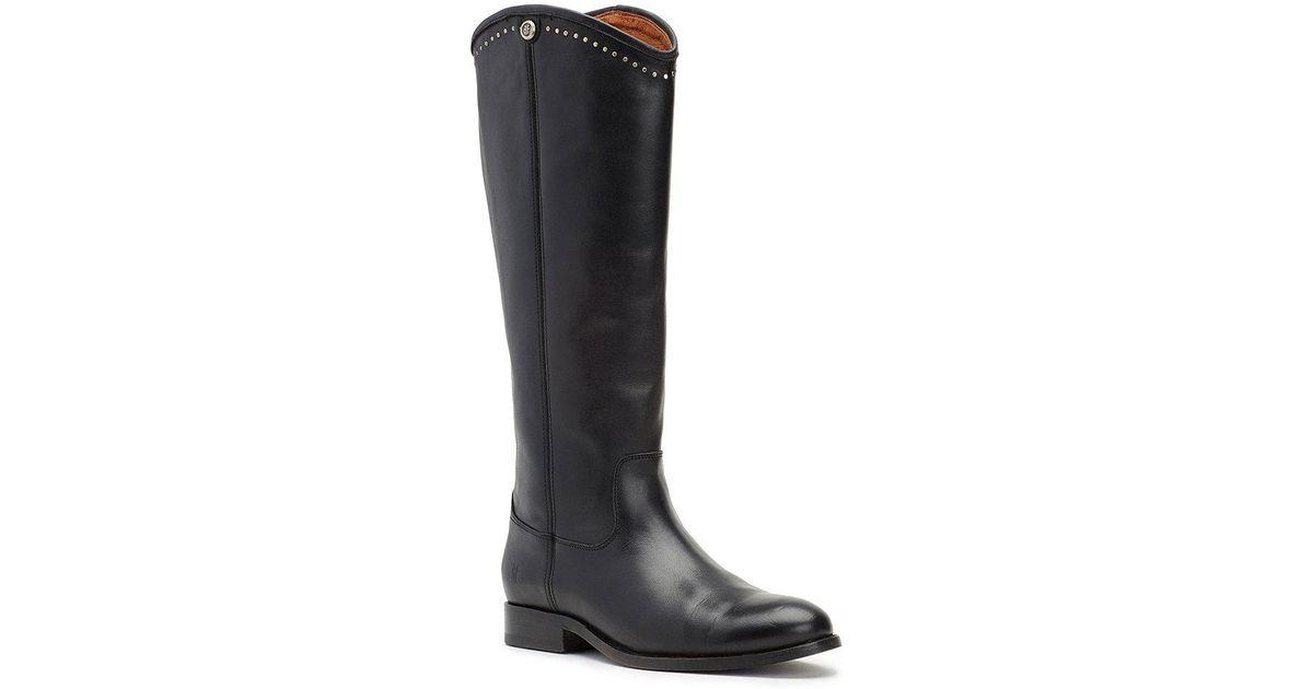 Melissa Button Stud Block Heel Tall Boots CPpp1D