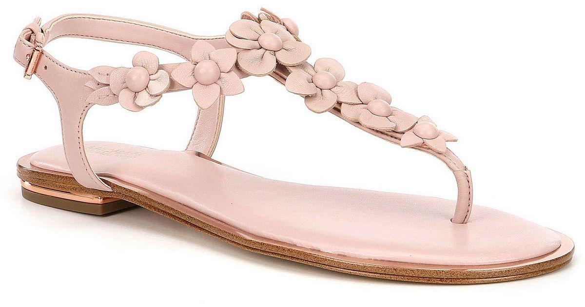 c1a00634b594 Lyst - MICHAEL Michael Kors Tricia Sandal (women) in Pink
