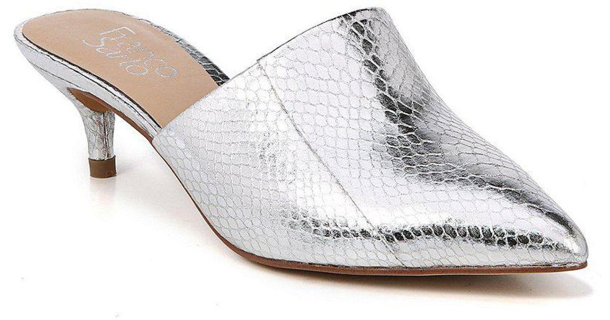 Doxie Metallic Foil Snake Print Dress Mules SboOaC57g