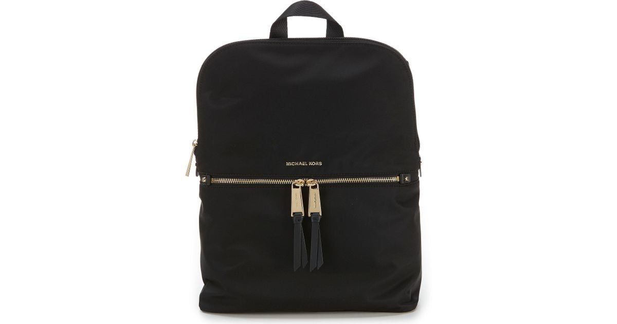 7eab3208a65e MICHAEL Michael Kors Polly Medium Nylon Slim Backpack in Black - Save 6% -  Lyst