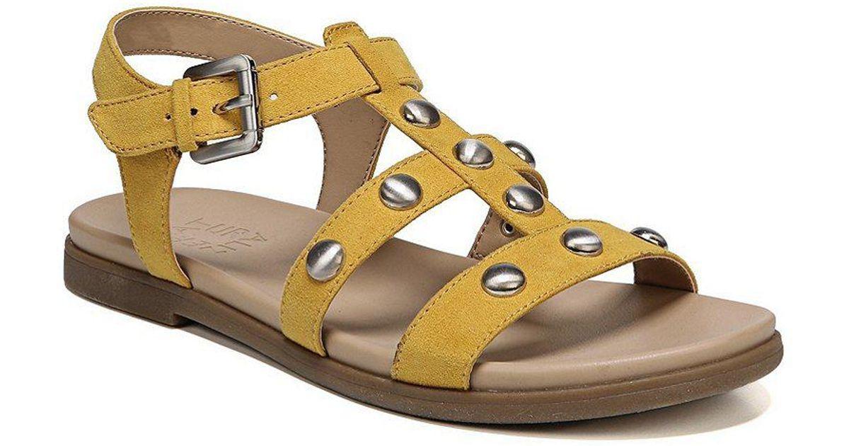 91158978684f Lyst - Naturalizer Davi Fabric Studded Gladiator Sandals in Black