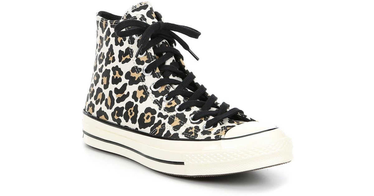 Converse Multicolor Women's Chuck Taylor All Star Leopard Print High Top Sneakers