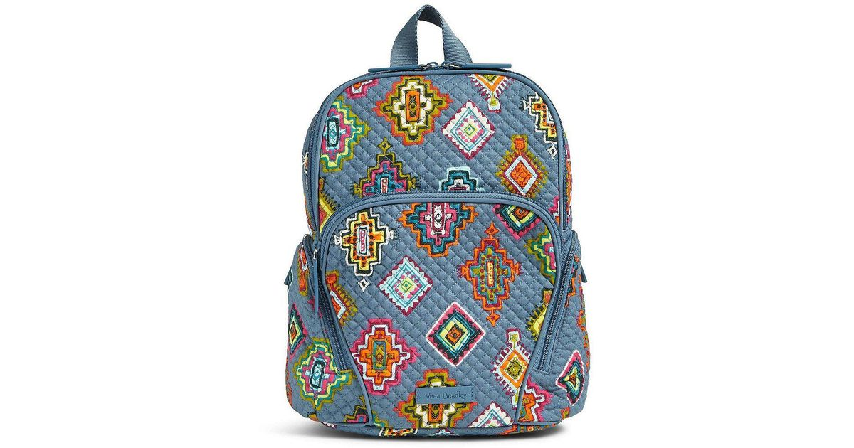 Lyst - Vera Bradley Hadley Backpack in Blue 8a6da5507b547