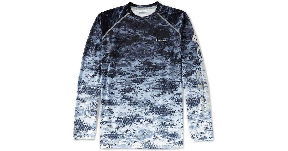 d7b3047a53c99 Columbia Pfg Terminal Tackle Camo Fade Long-sleeve Tee in Blue for Men -  Lyst