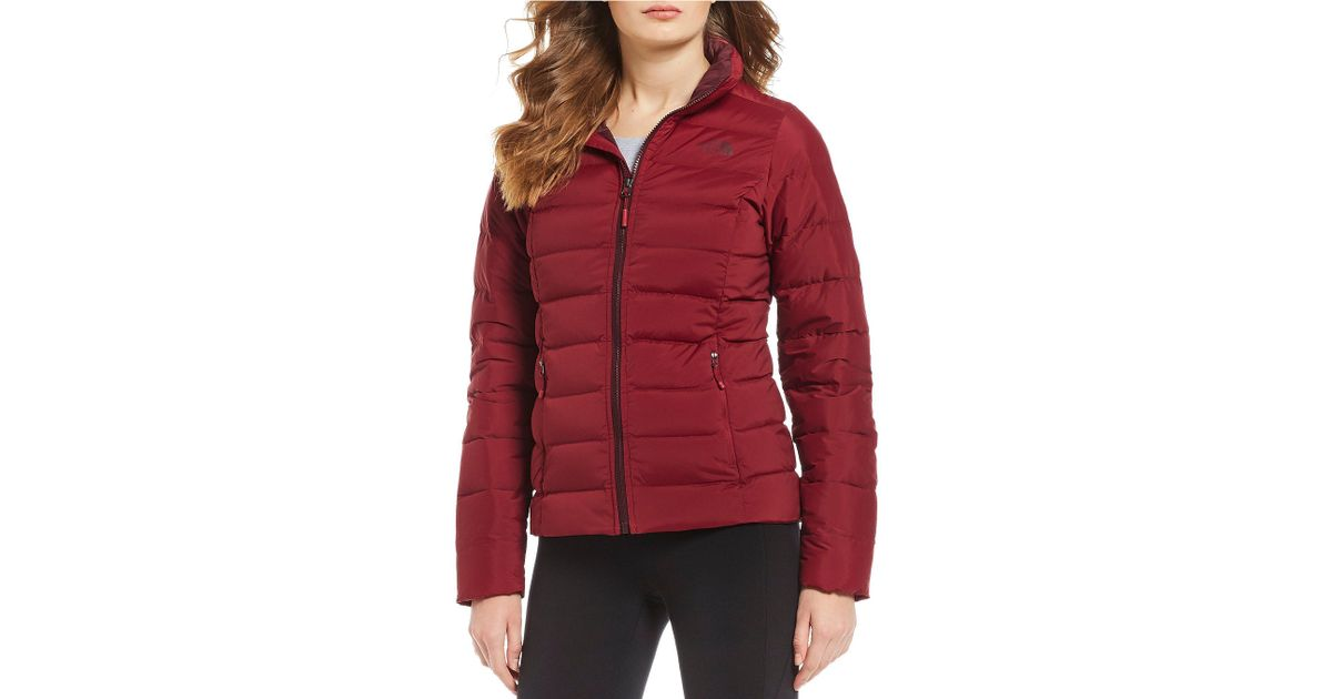 8bbf0fc98d Lyst - The North Face Mountain Sports Stretch Down Zip Front Puffer Jacket  in Red