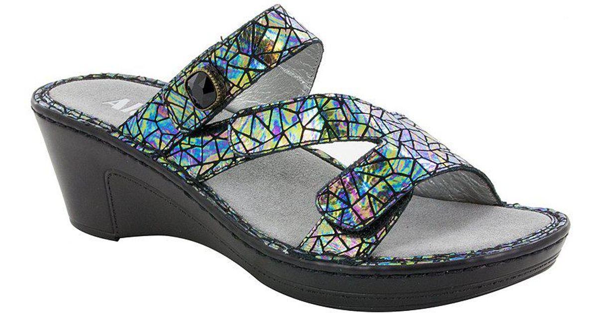 Loti Tectonic Wedge Slide Sandals pMZpee