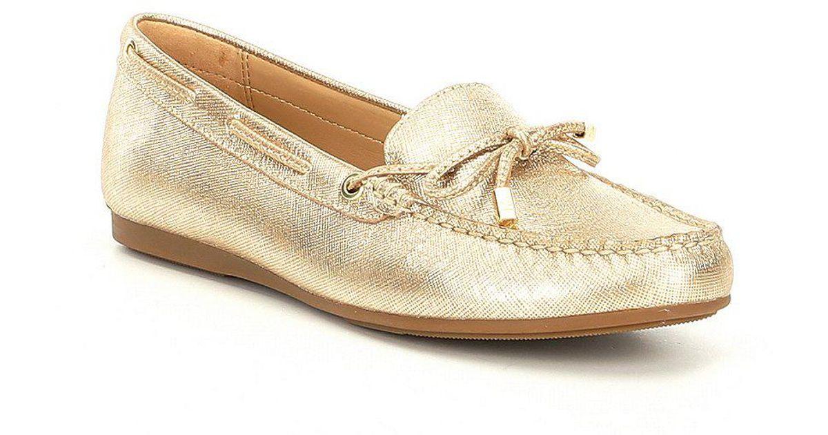 Sutton Metallic Moc Bow Detail Loafers VBkdSJMz