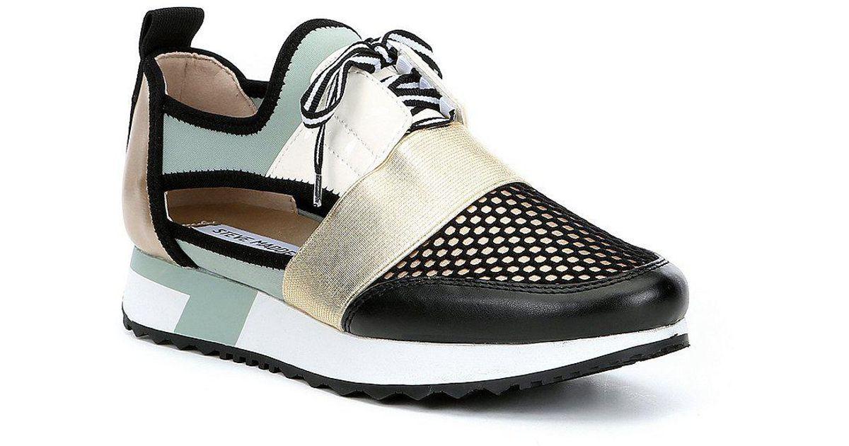 6d24e10c2b1 Lyst - Steve Madden Arctic Multi Cutout Sneakers in Blue