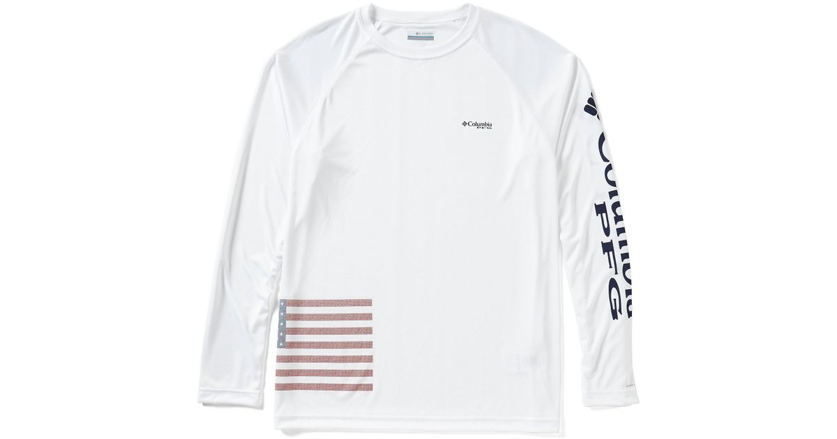 0ad353024e4 Columbia Pfg Fish Series Terminal Tackle Long-sleeve Tee in White for Men -  Lyst