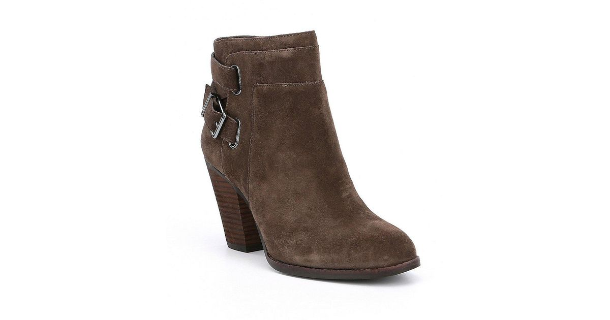 b203808106b8 Gianni Bini Dayvis Suede Belted Booties in Gray - Lyst