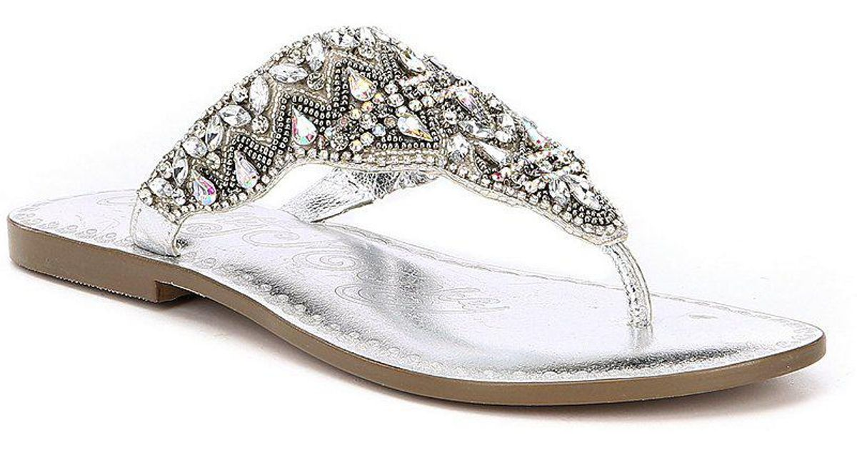 Naughty Monkey Loving U Jeweled Thong Sandals n87LDtG3kg